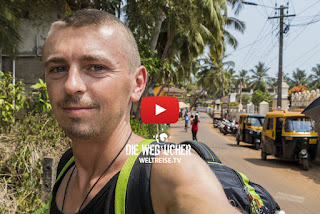 WELTREISE.TV Arkadij reist alleine durch Indien, Agonda, Benaulim, Margao, Betalbatim