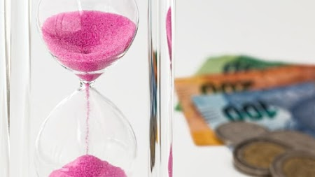 Hourglass. Time is Money