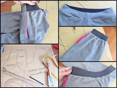 Spodnie dresowe / Wykrój / Szycie Iwakki