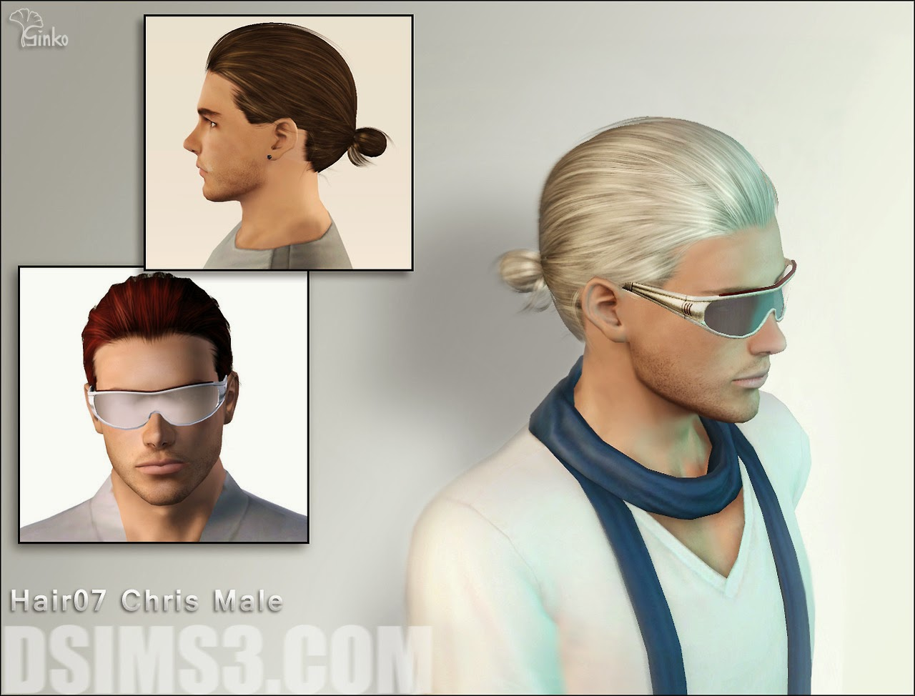 My Sims 3 Blog: Ginko Chris Hair for Males