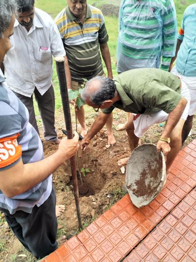 Seva activity in temple premises