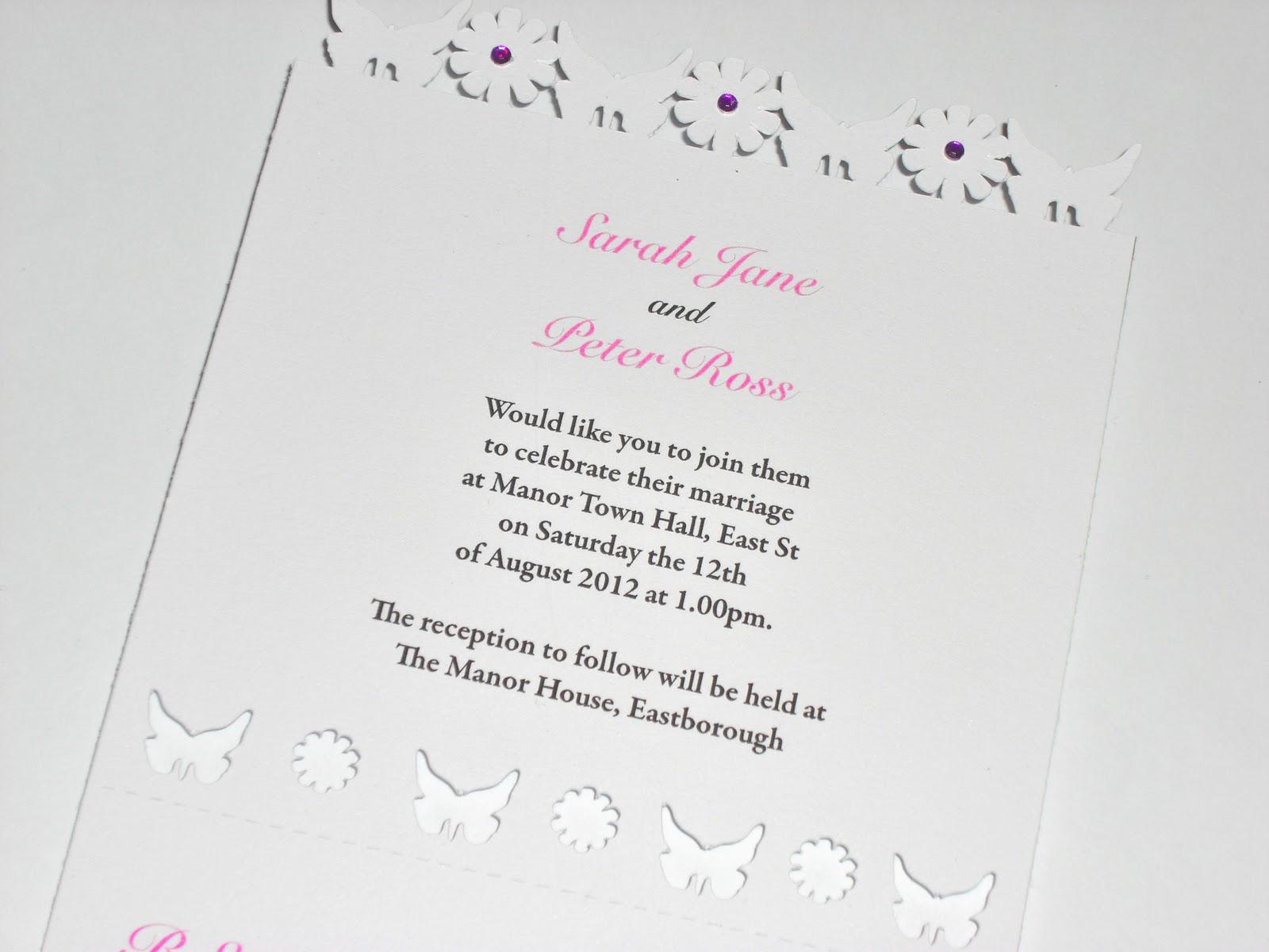 New Design Laser Cut Wedding Invitations Erflies Flowers