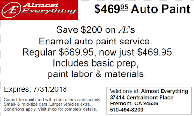 Coupon $469.95 Auto Paint Sale July 2018