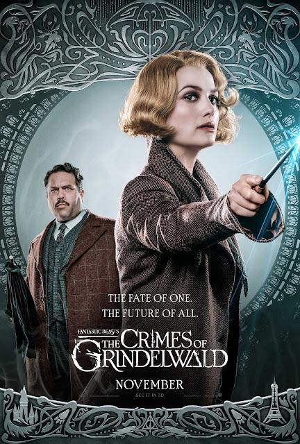 Novos pôsteres dos personagens de 'Os Crimes de Grindelwald' são divulgados | Queenie Goldstein e Jacob Kowalski | Ordem da Fênix Brasileira