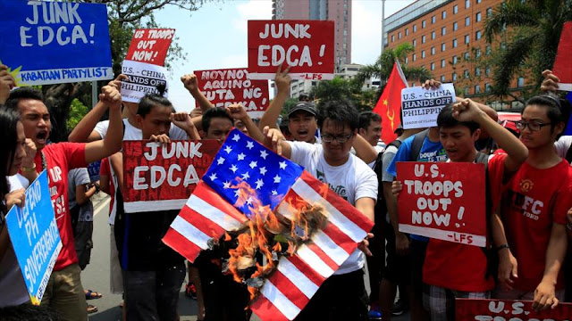 Filipinos protestan contra presencia militar de EEUU en su país