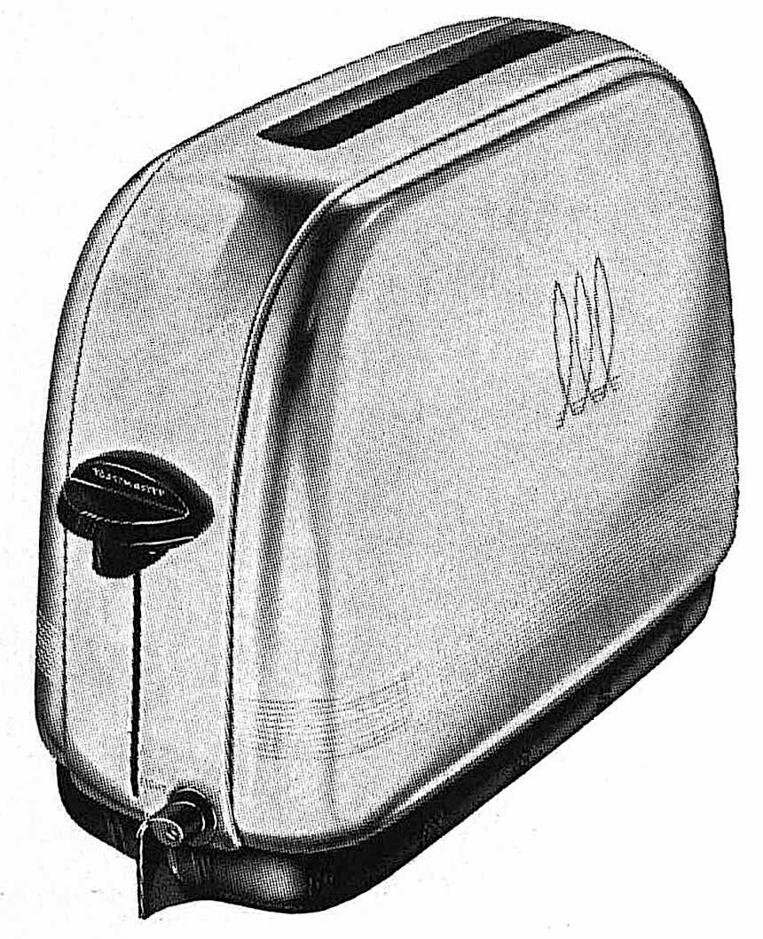 a 1942 single slice toaster, large illustration