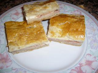 Torta salata veloce con prosciutto e formaggio