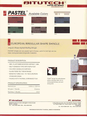 Atap Bitutech Shingle Pastel