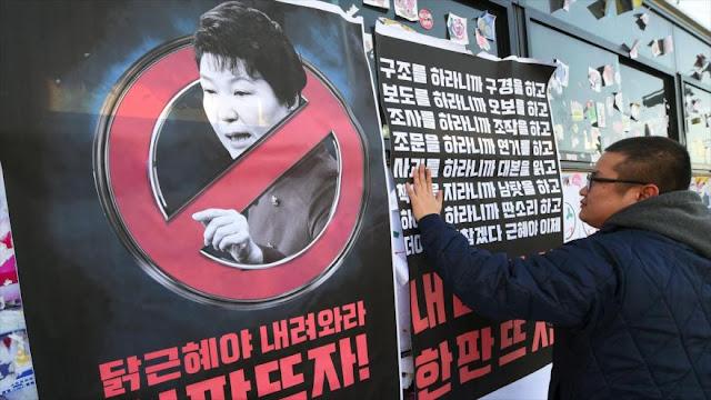 Presidenta surcoreana se considera víctima de rumores falsos