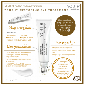 Krim Mata Restoring Eye Treatment Skincare Youth Shaklee
