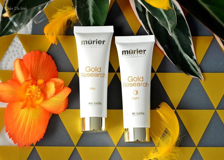 Pielęgnacja twarzy Murier Paris Gold Research - Krem na dzień i Krem na noc ze złotem koloidalnym i komórkami macierzystymi recenzja