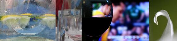 מספר דוגמאות מצילומיה של סמדר ברנע - כוסות, אבסטרקט.