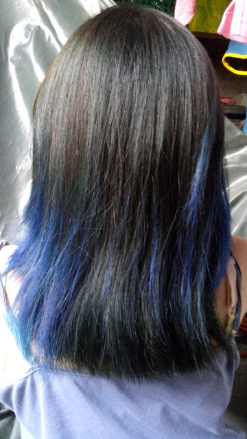 blue hair, hair colorant,