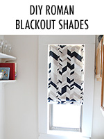 Transform mini blinds into classy roman shades