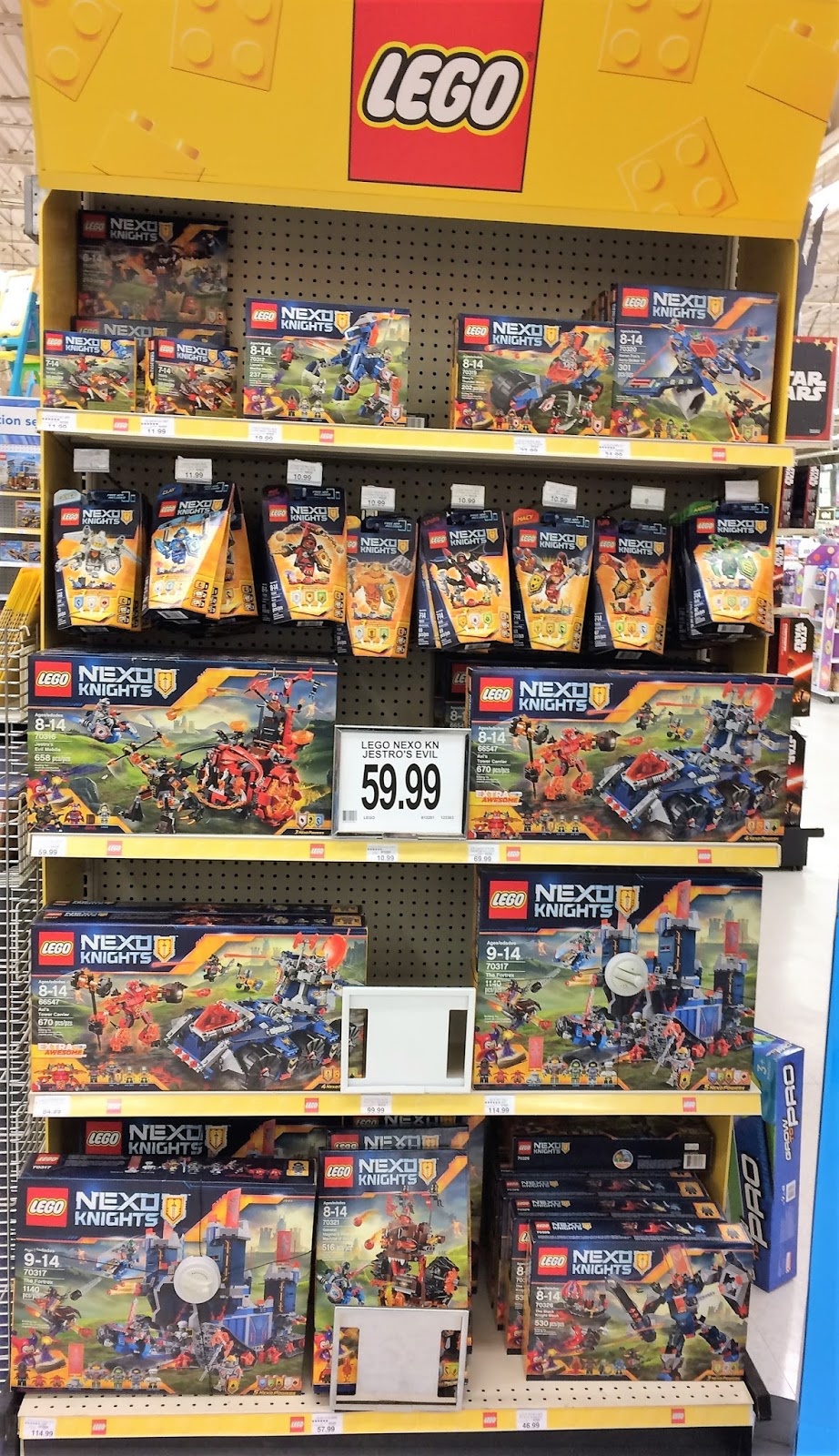 The Dedicated Nexo Knights End Cap Display Prominently At Front Of Lego Section Nothing New Here But Sheer Awesomeness These Sets Will