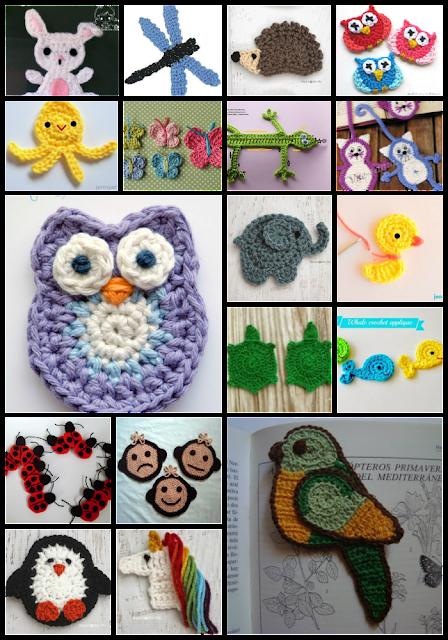 collares primaverales a crochet manualidades