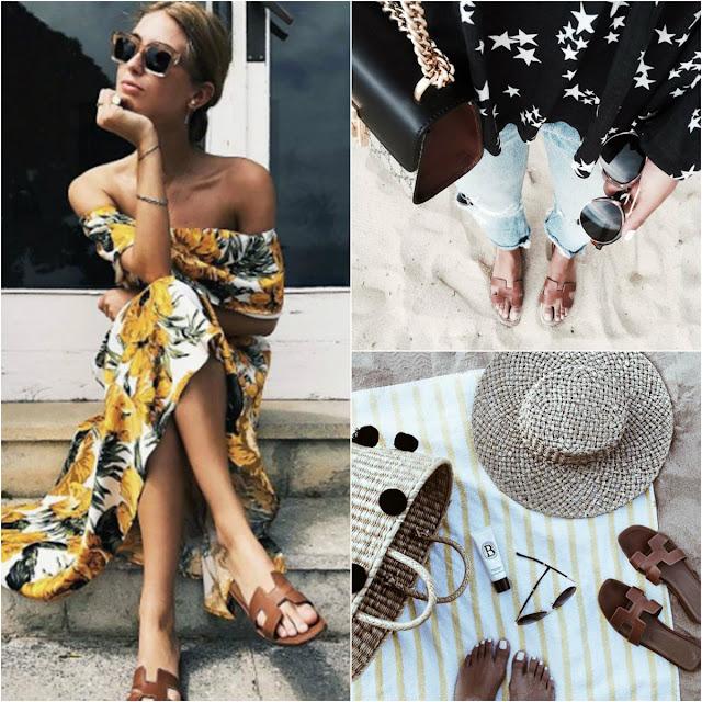 hermes oran sandal designer dupe, look for less, save or splurge