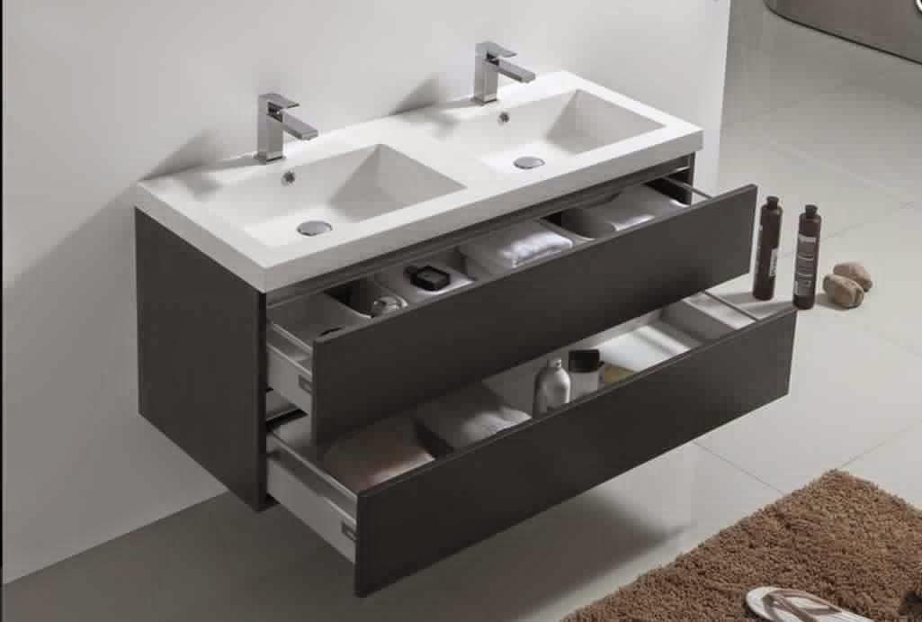 Meuble de salle de bain 2 vasques table de lit - Meuble 2 vasques salle de bain ...