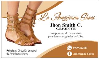 Tarjetas de visita sandalias de mujer