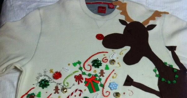 Ultra Gross Quot Barfing Reindeer Quot Christmas Sweater