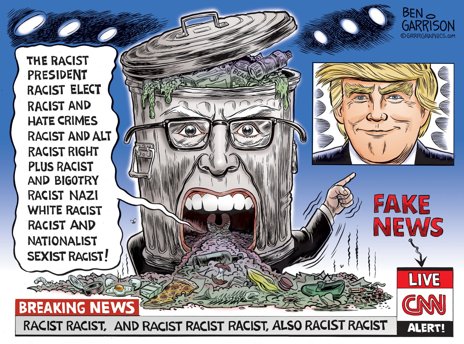 Image result for cnn and nwo cartoon