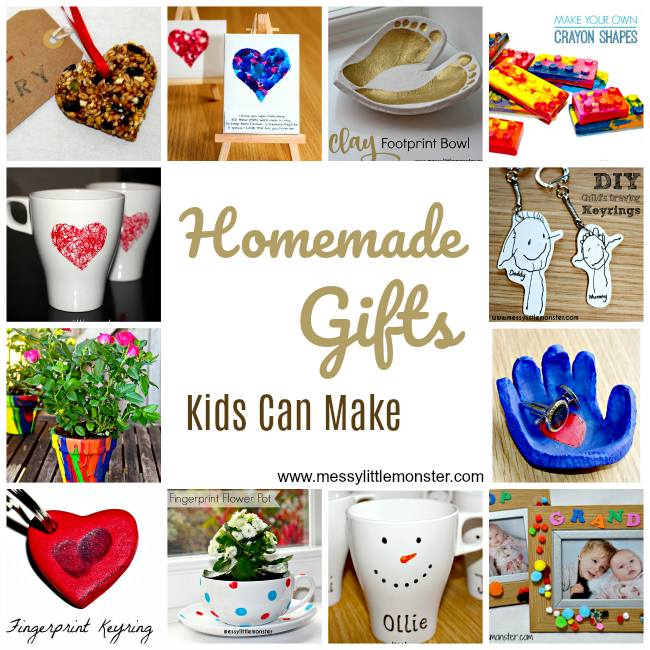 Handmade Gifts Kids Can Make - Messy Little Monster