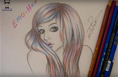 تعلم رسم الشعر