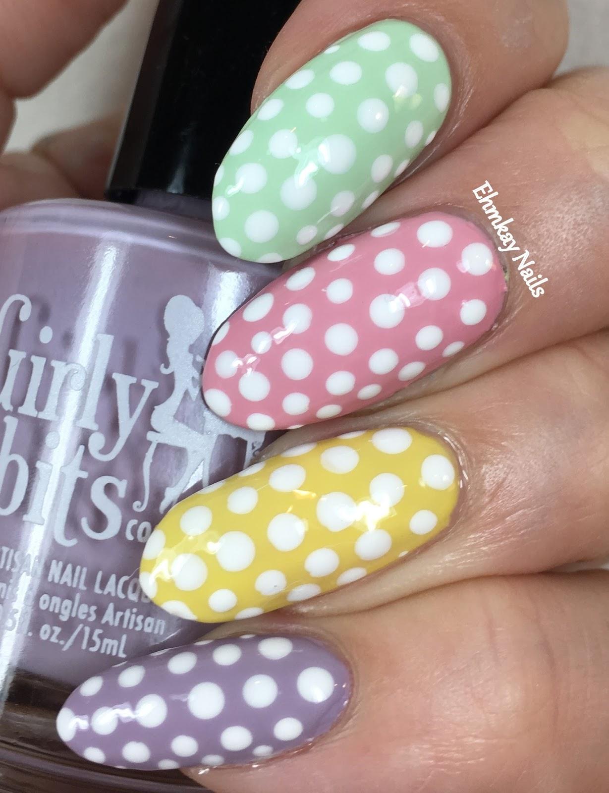 ehmkay nails: Easter Nail Art: Pastel Polka Dots