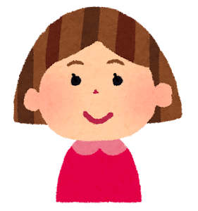 女の子の表情のイラスト「笑顔」