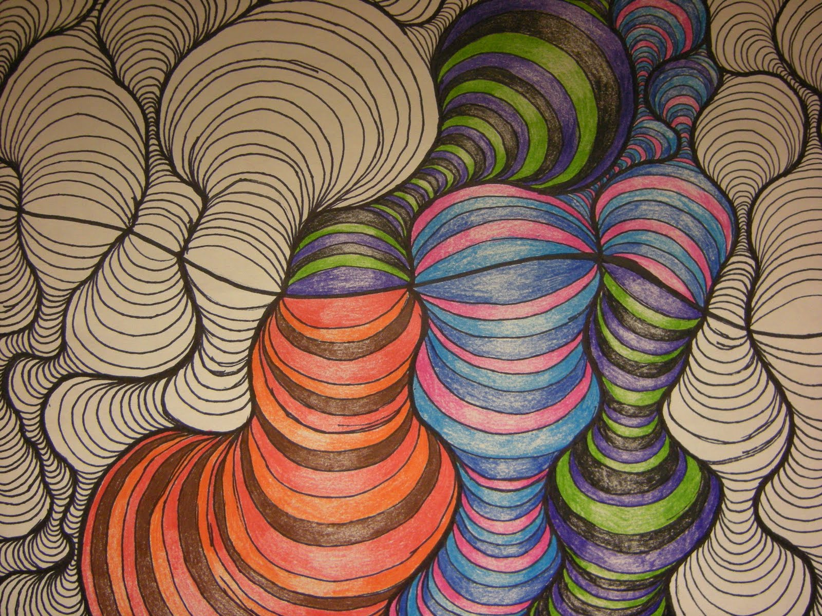 Tart--Teaching Art with Attitude: Curved Line Designs
