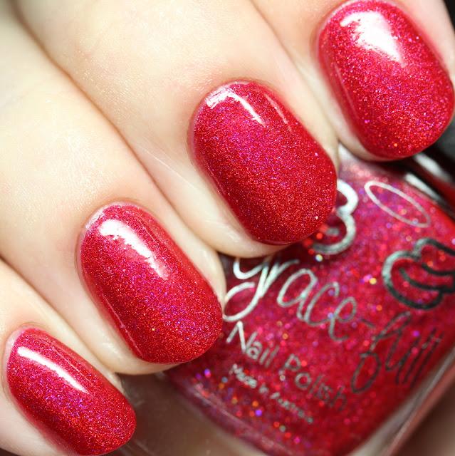 Grace-full Nail Polish Scarlet Sparkles