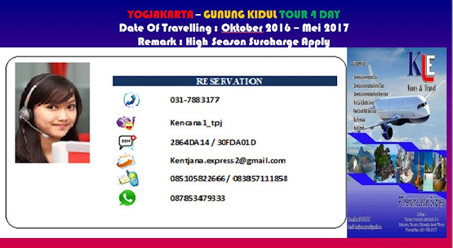 PROMO YOGJAKARTA – GUNUNG KIDUL TOUR 4 DAY