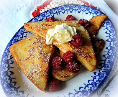 Pain Perdu with Clotted Cream & Berries
