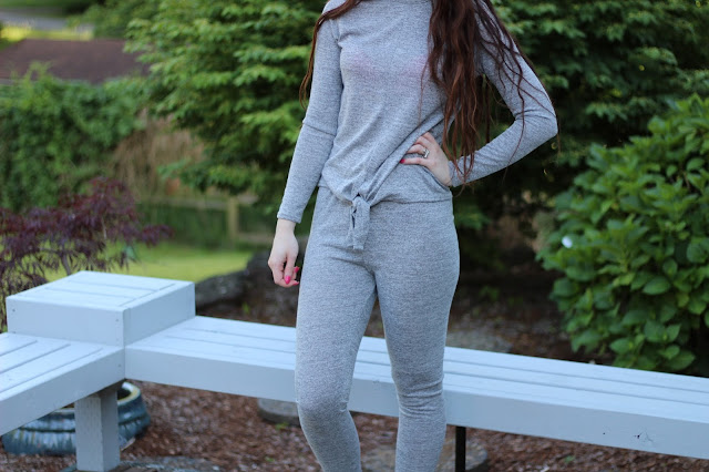 grey lounge wear set