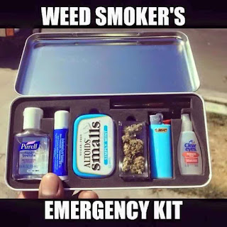 weed smoker's emergency kit