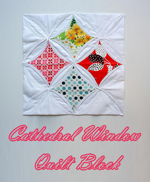 Cathedral Window Block Free Tutorial designed by Christina Lane from Sometimes Crafter