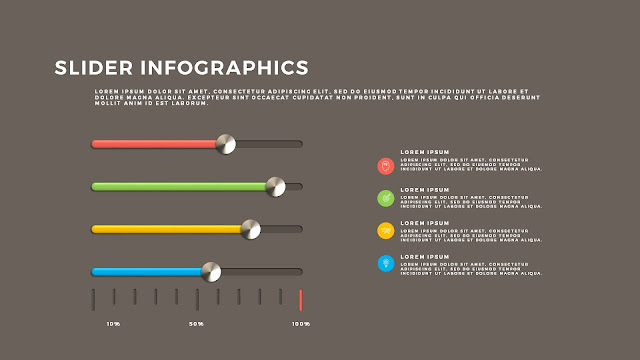 Free PowerPoint Template with Slider Infographics Slide 12