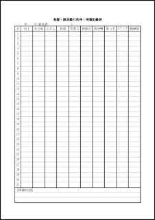 食器・器具類の洗浄・消毒記録表 012