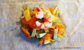 Farcellets de Gambes amb Salsa de Porros, aperitiu, tapa, pinxo, l'essència de la Cuina, blog de cuina de la Sònia, pincho, cuina casolana, cuina facil, vegeteriana, Nadal.
