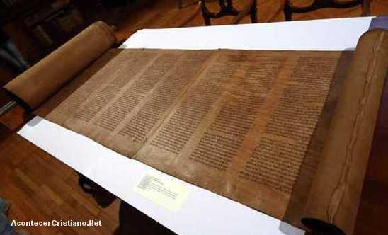 El pergamino de la Torá más antiguo del mundo