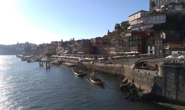 Widok na Ribeire w Porto