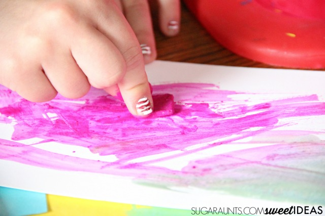 Kids can make lacing cards for fine motor skills.