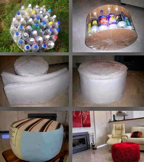 Poltrona Bottiglie Di Plastica.Bottiglie Di Plastica Riciclo Creativo