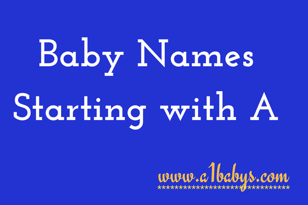 Baby Girl Names Starting With A