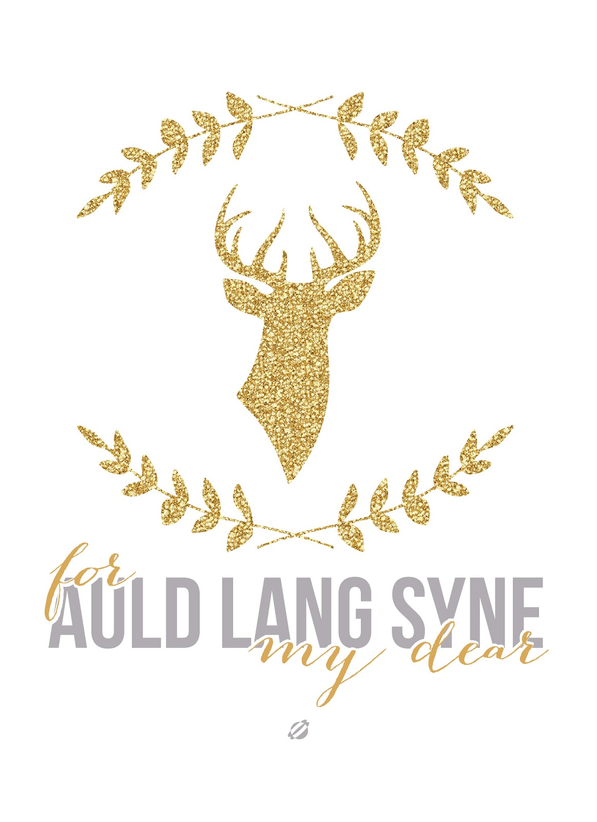 LostBumblebee 2013 - For Auld Lang Syne - New Year- Free Printable