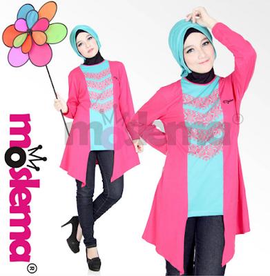 Model Terbaru Busana Muslim Bahan Kaos
