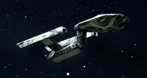 star wars enterprise dollar bill origami