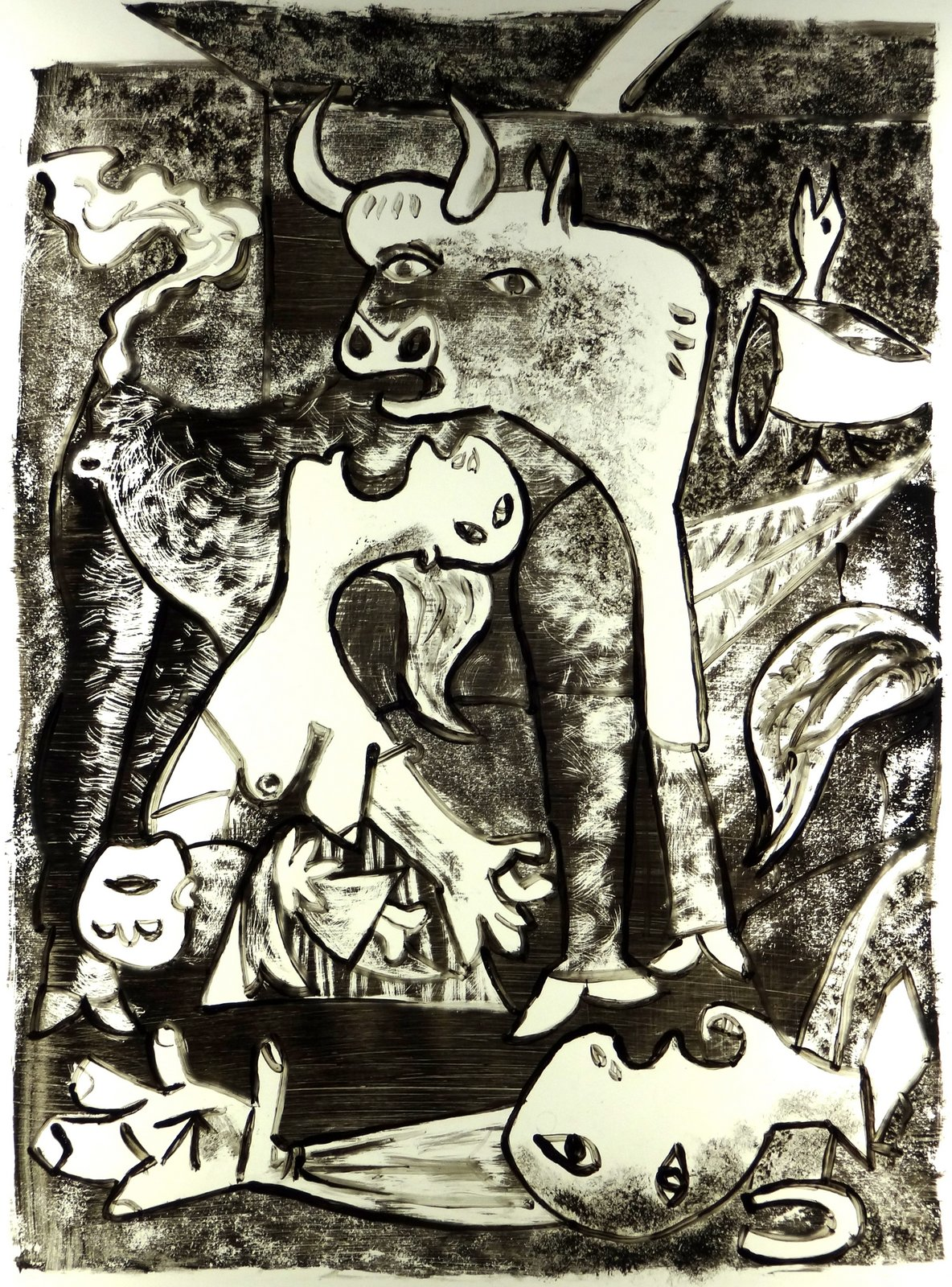Picasso Guernica Sketches rene fijten sketches: ...