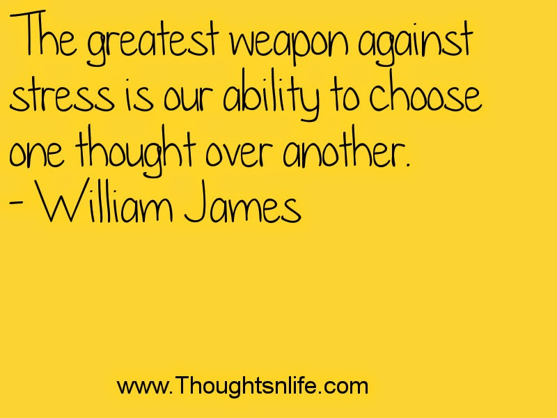 Thoughtsandlife :The greatest weapon against stress