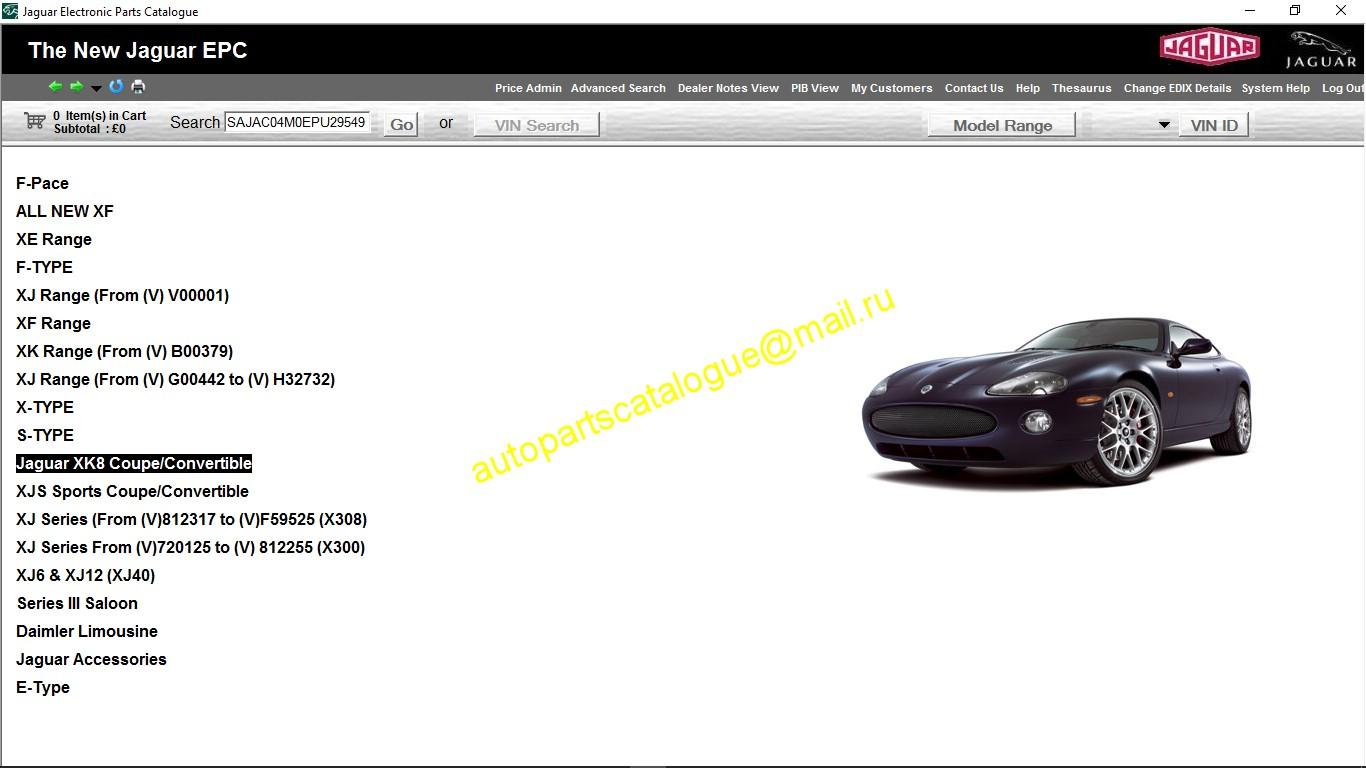 Jaguar Epc Parts Catalog